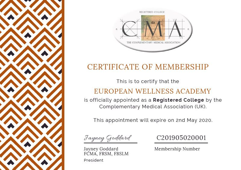 Accreditation & Affiliation – European Wellness Academy